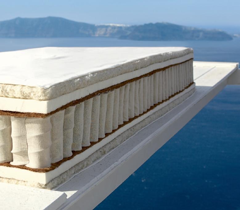 Der Aufbau der Aegean Sunset Matratze auf einem Blick!